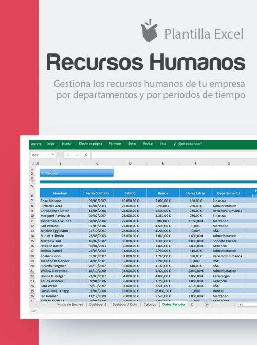 Plantilla control recursos humanos