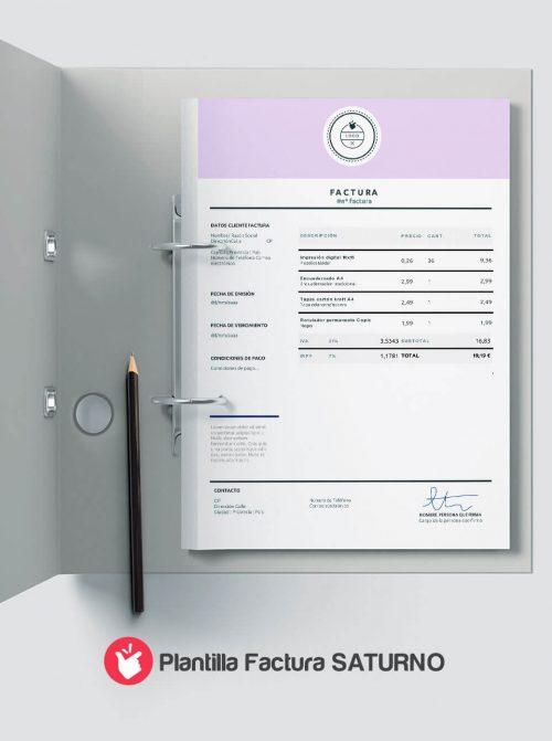 Modelo factura para rellenar en formato word y power point