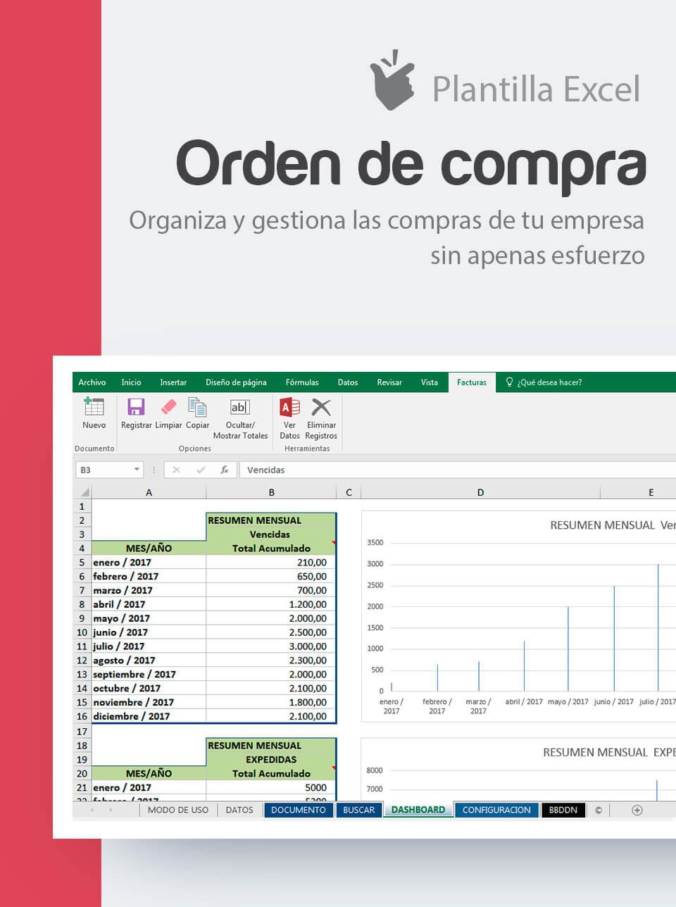 Plantilla Excel Orden de Compra | Modelo Excel notas de pedido