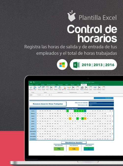 Plantilla Excel control de horas