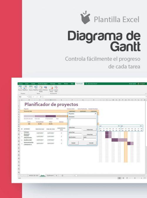 Plantilla Gantt en Excel