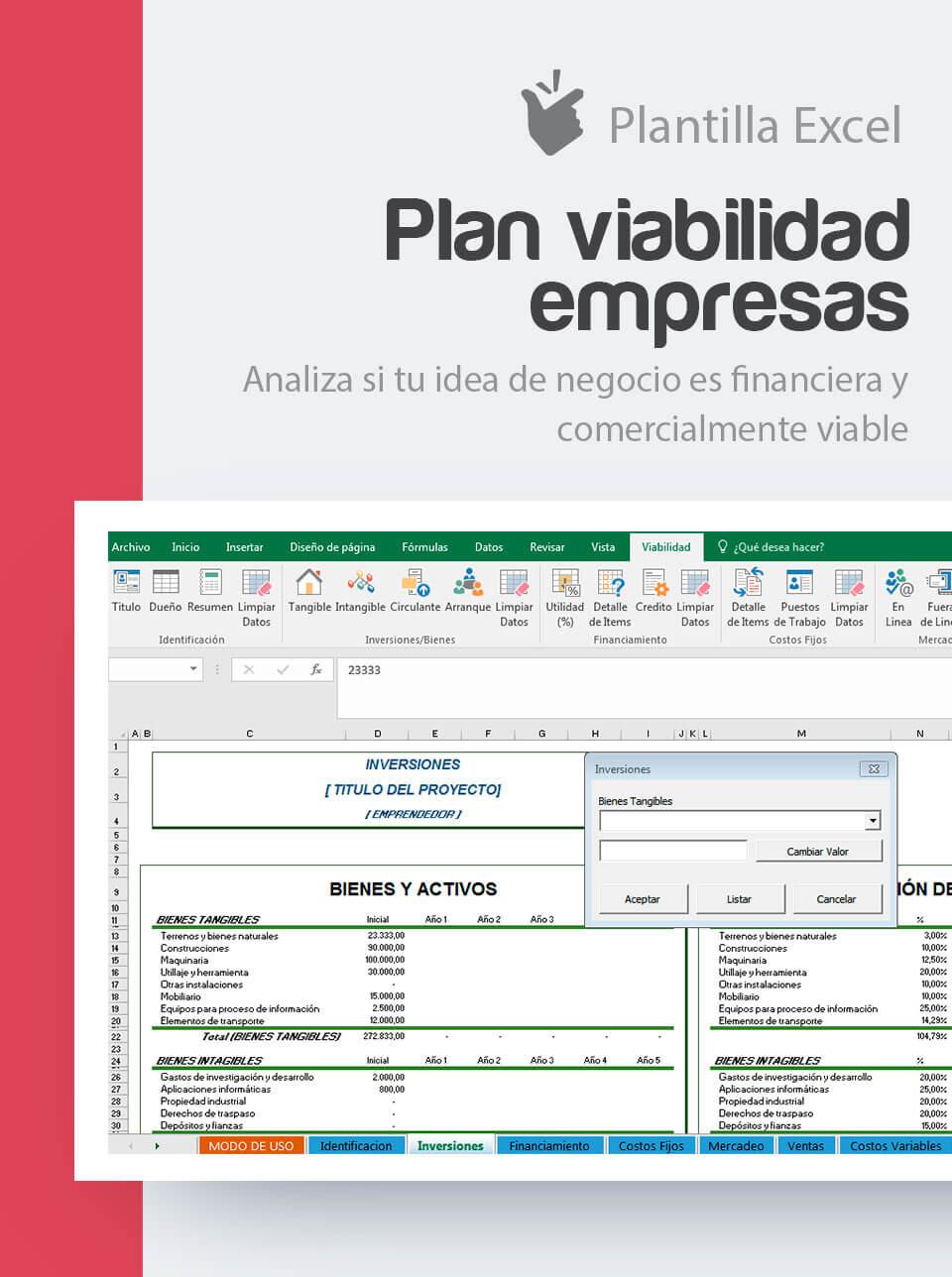 Plantilla Plan de Viabilidad Empresas   Conoce la viabilidad de un ...