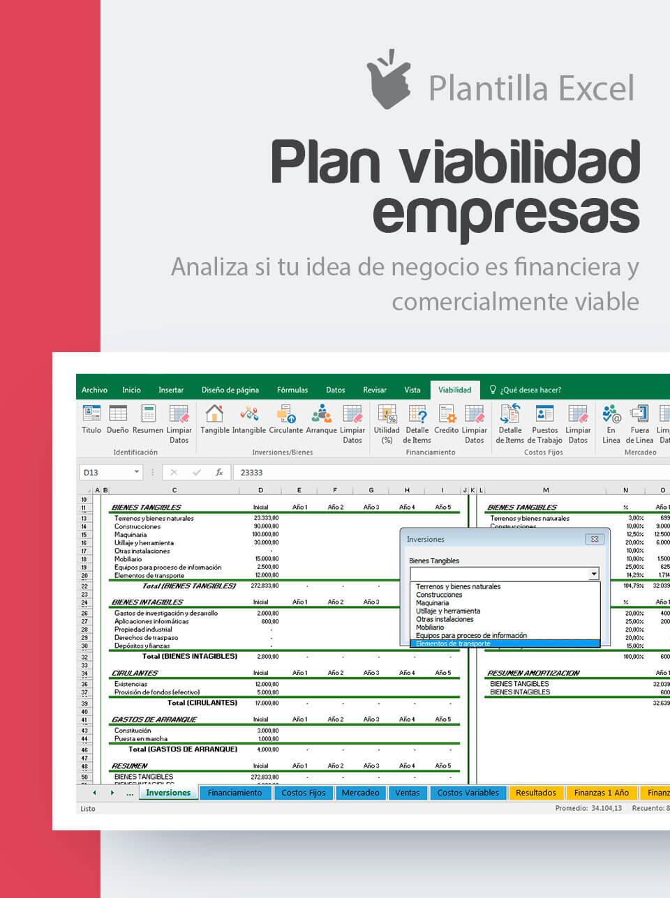 Plantilla Plan de Viabilidad Empresas | Excel viabilidad de un ...