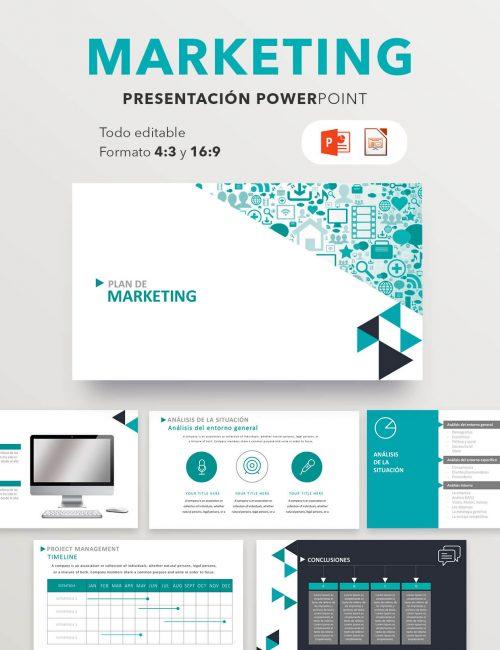 Plantilla Power Point marketing