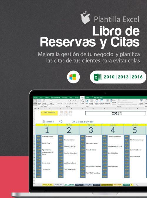 Plantilla calendario de reservas