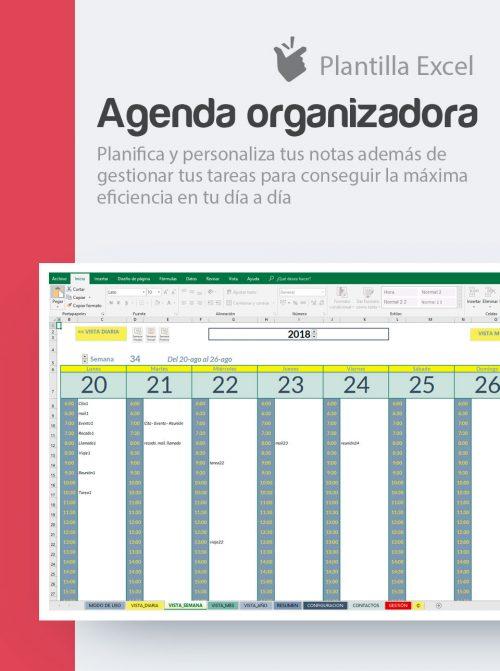 Organiza el tiempo con esta agenda