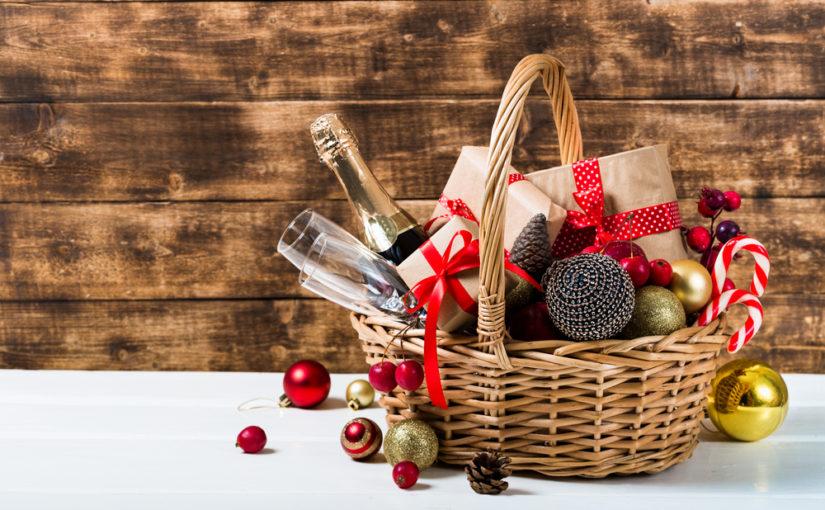 Tributar cesta de Navidad