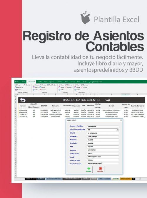Plantilla registrar asientos contables