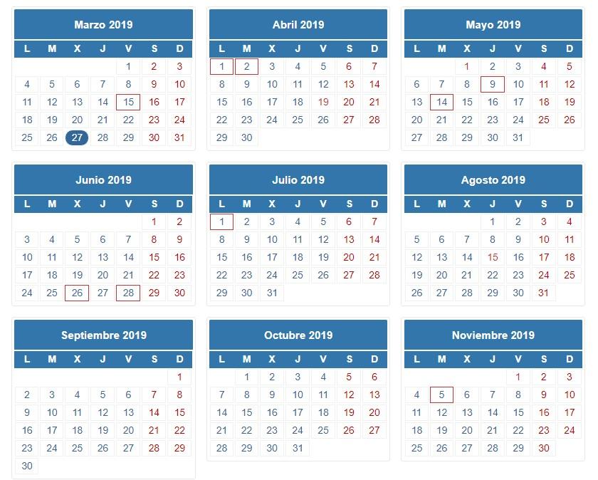 Calendario de la declaración del IRPF